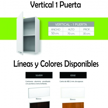 Alacena Itar Slim Horizontal 60 cm Blanco