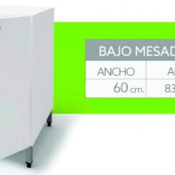 Bajo Mesada Itar Slim 60 cm Blanco