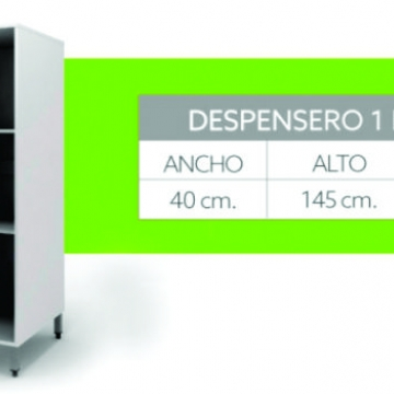 Despensero Itar Edge Blanco 40 X 146 X 58,3