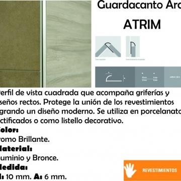 Varilla Aluminio Atrim 1381 0,9 Cm Cromo Brillante