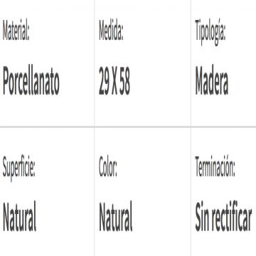 Porcelanato Rectificado San Lorenzo Tavolo Natural 28 X 57,7 Cj.1,29 M2