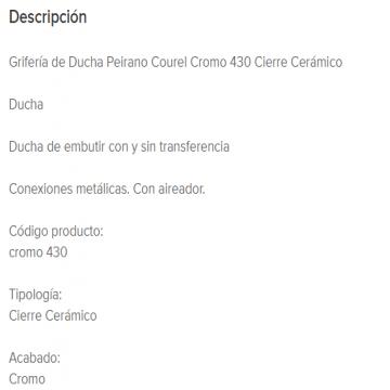 Juego Lluvia Con Transferencia Peirano Courel 430 Cr.