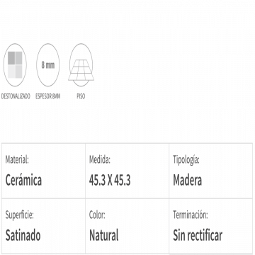 Ceramico San Lorenzo Taracea Natural 45,3X45,3 Cj,2,05 M2