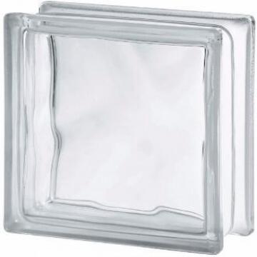 Ladrillo de Vidrio Vitroblock Nube 19 X 19 Incoloro