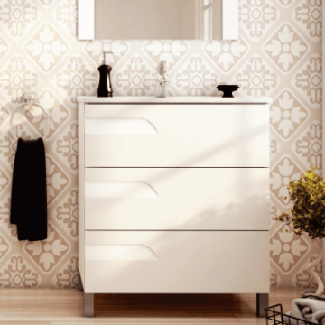 Vanitory Rivo 80 Blanco Mueble Para Baño Schneider