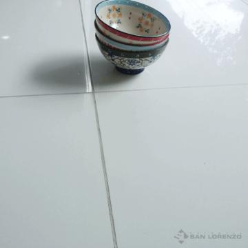 Porcelanato Esmerilado San Lorenzo White Pulido 57.7x57.7 Rectificado
