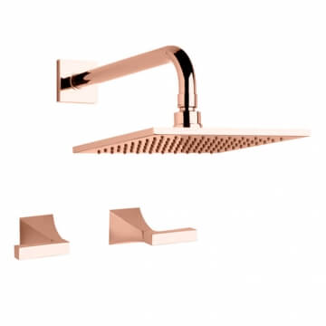 Juego Lluvia 2 Llaves Fv Urbano Lever 109/H3L Rose Gold