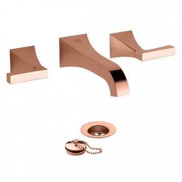 Juego Lavatorio Embutir Fv Urbano Rose Gold Lever 203/H3L