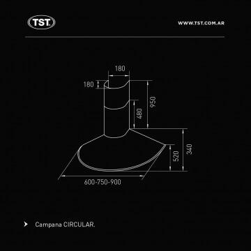 Campana TST Circular 75 cm