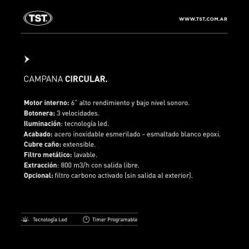 Campana TST Circular 60 cm