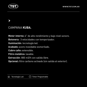 Campana TST Kuba 60 cm