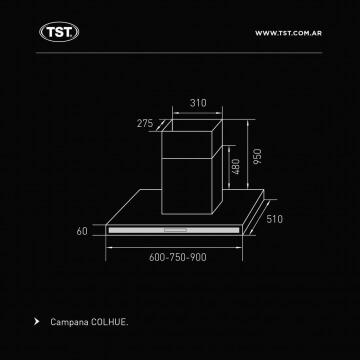 Campana TST Colhue 90 cm