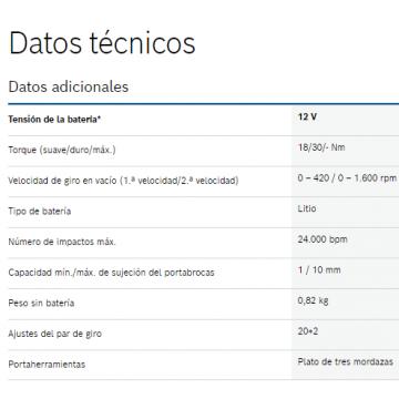 Taladro de Percusion/Atornillador Bosch GSB 12V-30